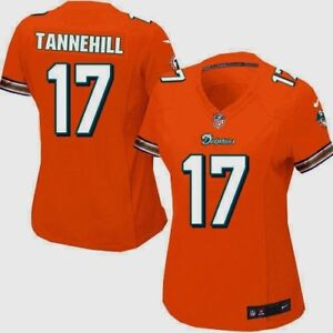 48ec0cd8 NIKE NFL Miami Dolphins #17 Ryan Tannehill Orange S/S Game Jersey ...