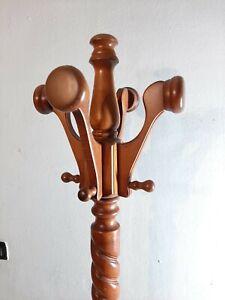 Vintage-Wood-Garment-Coat-Rack-Hat-Tree-Hall-Tree