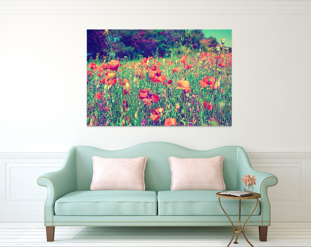 3D Natur Rote Blumen Baum 9675 Fototapeten Wandbild BildTapete AJSTORE DE Lemon