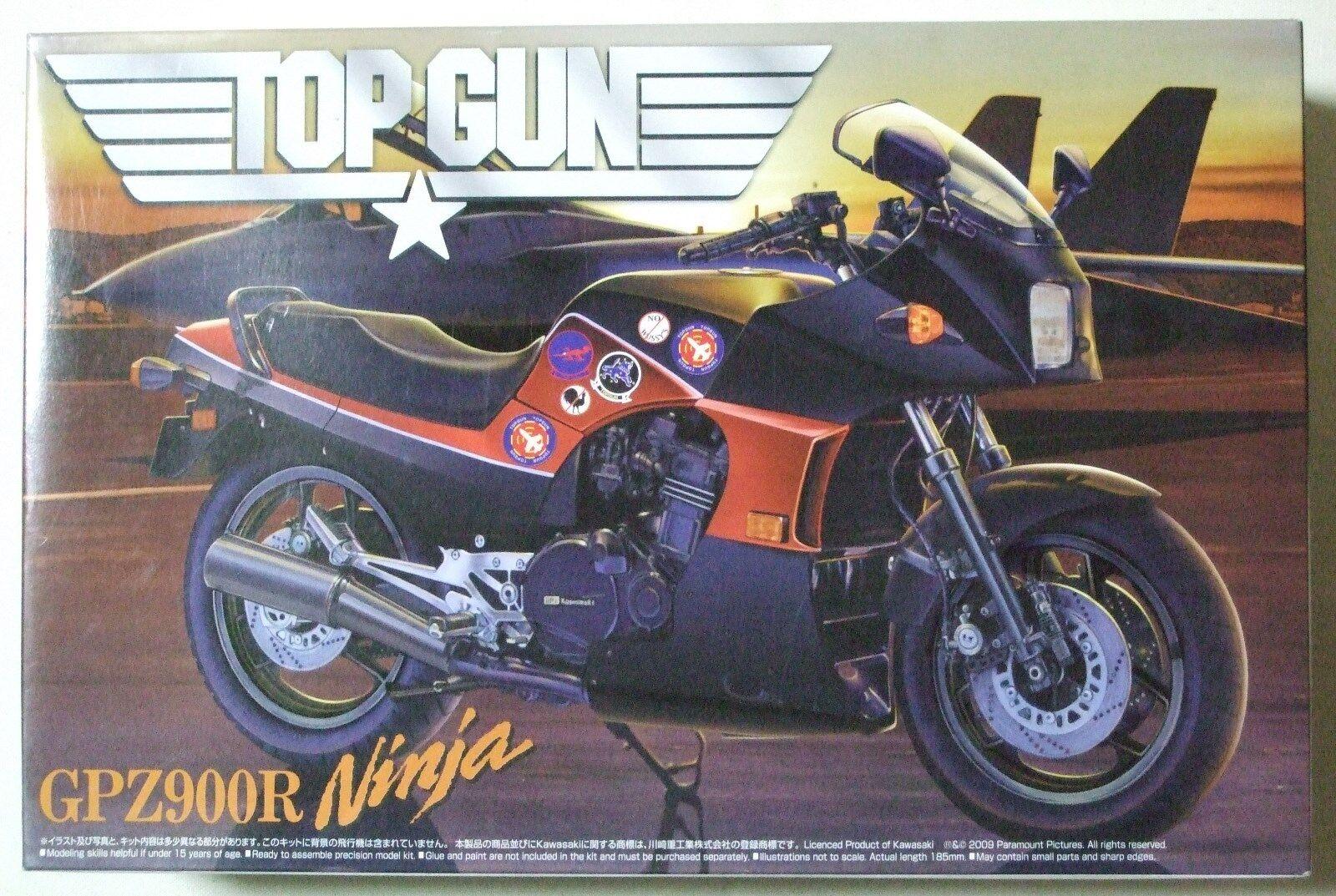 Kawasaki ninja - top gun gpz 900 r ver 1   12 modell - kit aoshima sehr selten nib