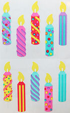 BIRTHDAY CANDLES ~ Celebration stickers ~ FREE SHIPPING - MRS GROSSMAN ~ Party
