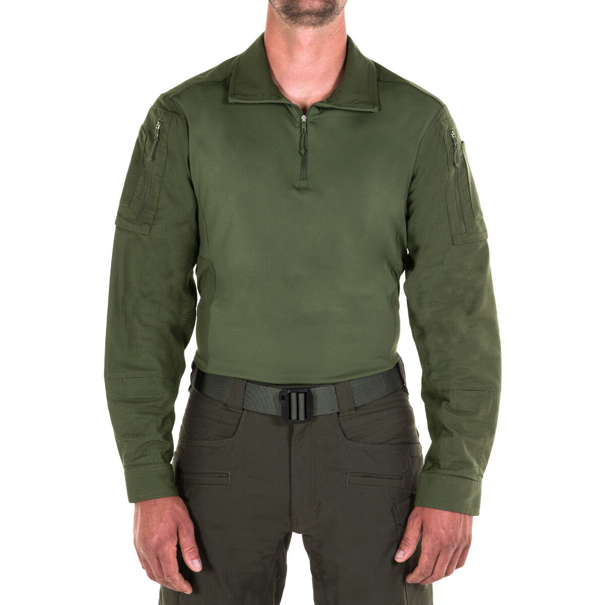First Tactical Mens Defender Military Combat Shirt Patrol Security Top OD Green