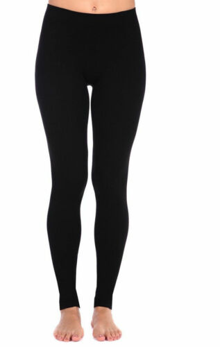 Women/'s Ladies Thermal Leggings Girls Fleece Winter Warm Gym Black UK Sizes 8-18