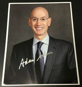 Adam-Silver-NBA-Commissioner-Signed-8x10-Photo-Authentic-Autograph-Auto-1