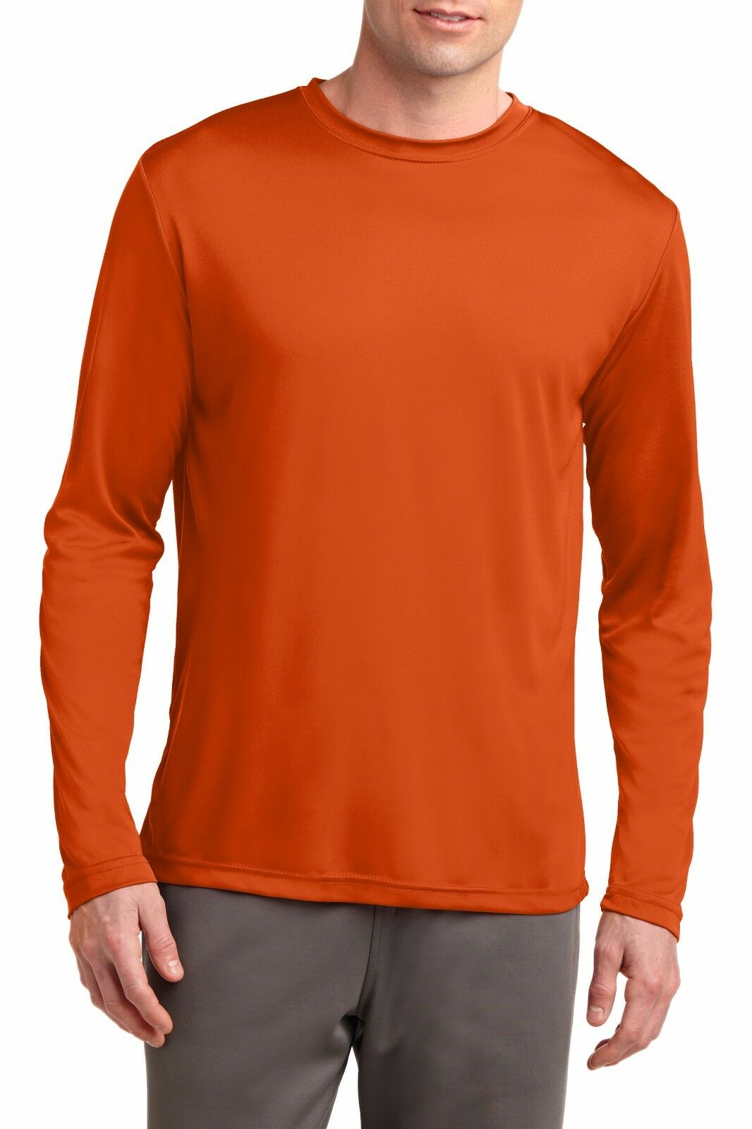 810af755696 Mens Long Sleeve T-Shirt Base Layer Moisture Wicking Workout Dri-Fit XS-4XL  NEW