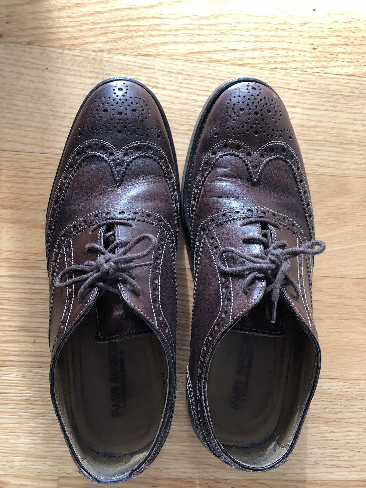 Gumlite James Benson Dress Handmade Leather Shoes Oxfords Dress Benson Brown Wingtip 734413