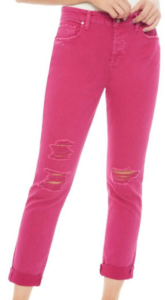NWT  Joe's Jeans, Women Size 30 - The Smith Cropped high Rise Jeans, Hot Pink