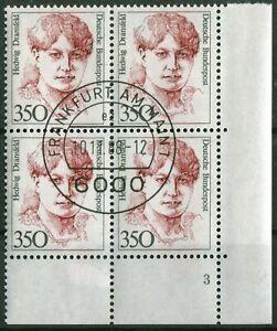 Bund-Nr-1393-Formnummer-3-Viererblock-Frauen-ERVB-gestempelt-EST-Vollstempel