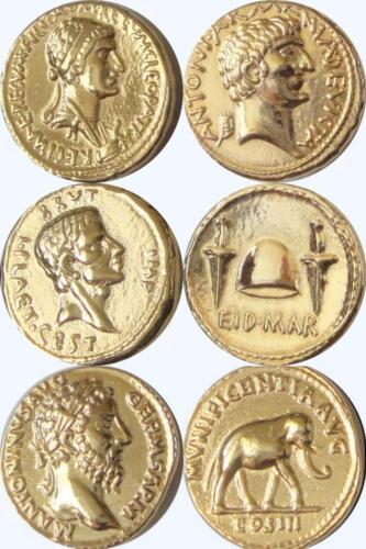 Cleopatra Brutus Roman Empire Marcus Aurelius 3ROME-G 3 Famous Roman Coins