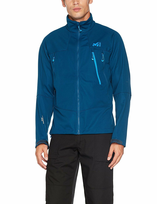 Millet K Gore Windstopper Softshell Jacket BNWT  XXLarge miv7070 Poseidon Blau