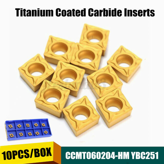 10Pcs CCMT060204-HM YBC251 Lathe CNC Carbide Insert For Lathe Turning    y