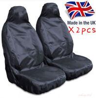 HEAVY DUTY FRONT SEAT COVERS UNIVERSAL CAR VAN BLACK WATERPROOF PROTECTOR MUDDY