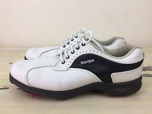 Footjoy-Greenjoys-Weiss-amp-Schwarz-Golfschuhe-Damen-SZ-8-5-Must-See
