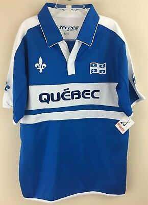 Purposeful Teepee Sports Boy's Quebec Soccer Polo Shirt Size 10/12 New Customers First Boys' Clothing (sizes 4 & Up) Tops, Shirts & T-shirts
