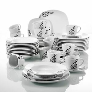 Image Is Loading Modern Kitchen Dinnerware Dinner Set Plates Bowl Cup