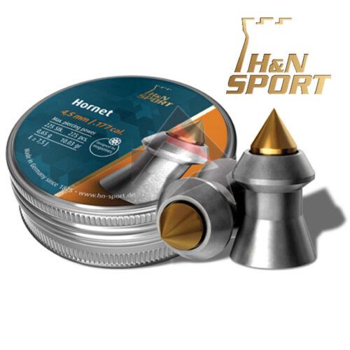 .177 Cal H/&N pellet Hornets Appuntito carabina caccia contro i parassiti TIN 225 4.5mm