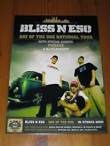 BLISS-N-ESO-2006-DAY-OF-THE-DOG-Australian-Tour-DOUBLE-SIDED-Laminated-Poster