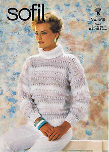 SOFIL KNITTING PATTERN LADIES POLO SWEATER IN CHUNKY 32034   40034 - <span itemprop=availableAtOrFrom>Desborough, United Kingdom</span> - SOFIL KNITTING PATTERN LADIES POLO SWEATER IN CHUNKY 32034   40034 - Desborough, United Kingdom