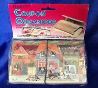 Vintage Hartin Coupon Organizer Divider Pockets Plastic Coated Convenient Size