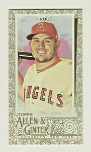 2020-Topps-Allen-amp-Ginter-Mini-GOLD-BORDER-85-MIKE-TROUT-Angels-RETAIL
