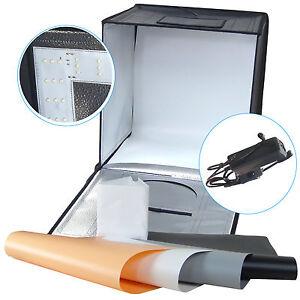 Dynasun Led440 40cm Professional Led Lichtwürfel Lichtzelt Mit 4 Hintergründen Fotostudio-zubehör