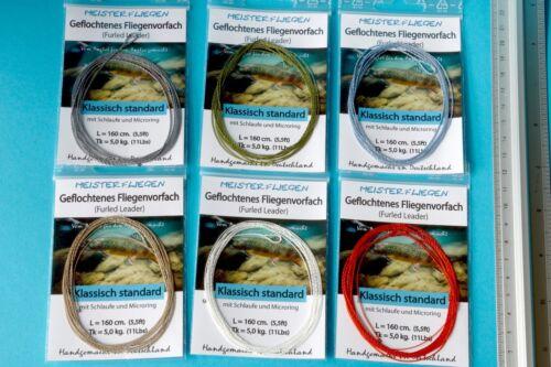 Geflochtenes Vorfach knotenlos  Fliegenfischen Fliegenvorfach Furled Leader Top