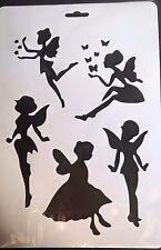 A4 Wall Stencil Reusable Template Butterfly Flower Fairies Fairy Home Decor Mask