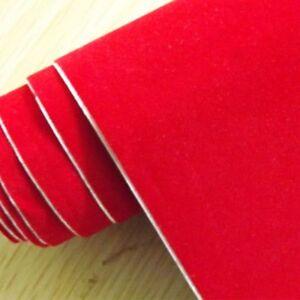 Film vinile rosso velluto pellicola adesiva decorazione wrapping 25/50/100/200mm
