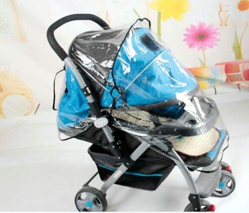Universal Buggy Pushchair Stroller Pram Transparent Waterproof Rain Cover Baby