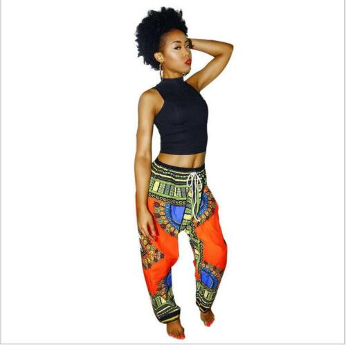 Women African Clothes Multicolor Printed Dashiki Pants Traditional African pant