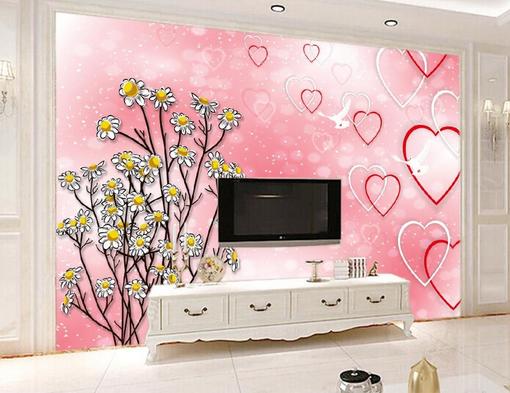 3D Romance Daisies 78 Wall Paper Murals Wall Print Wall Wallpaper Mural AU Kyra