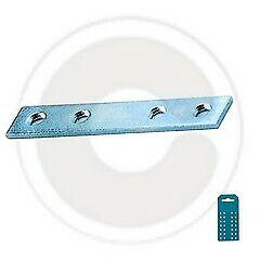 cf 5 pz lastrina lastrine a 4 fori diritta cm 10 in acciaio piastrina angolare