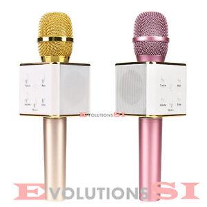 MICROFONO KARAOKE ALTAVOZ INCORPORADO INALAMBRICO BT WIRELESS USB IPHONE ANDROID