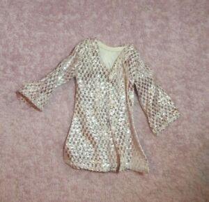 Vintage Barbie Doll Clothes Mod Era Barbie Clone Silver Coat Dress Ebay