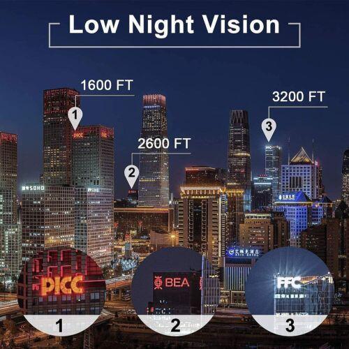 40X60 Binoculars with Night Vision BAK4 Prism High Power Waterproof