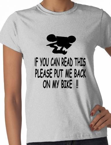 If You Can read This  Motorbike Funny Bikers Gift  Ladies T Shirt  Size S-XXL