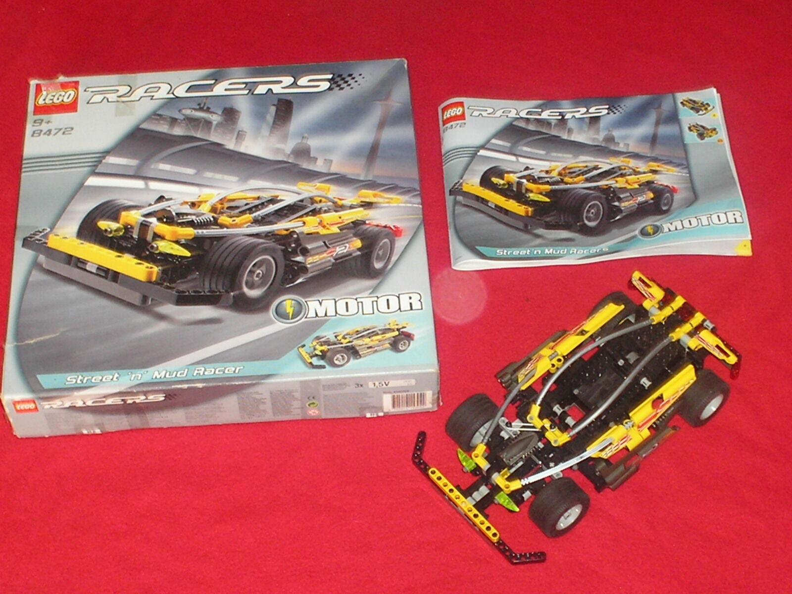 Set complet LEGO TECHNIC racers ref 8472 avec moteur        100% COMPLET