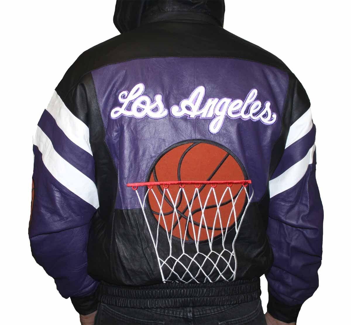 jacke leder Bomber Sport LA männer Zipper Basket 79.99 leder