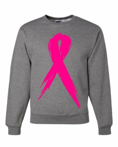 Pink Ribbon Breast Cancer Awareness Sweatshirt Hope Fight Survivor Sweater