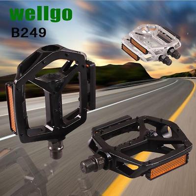 Wellgo 9//16 M195DU Alloy Metal Mountain Bike Bicycle MTB BMX Flat Pedals