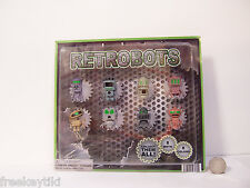 8 RETROBOTS  Aliens UFO B Movie Set Toys Vending Display Tiny Figures Figurines