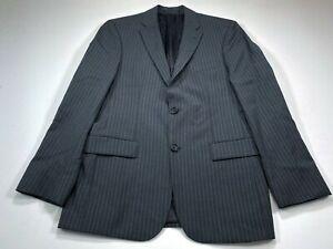 HUGO-BOSS-Pasini2-Movie2-38R-Virgin-Wool-Sport-Coat-Blazer-Jacket-Gray-Stripe