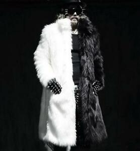 Vogue-Winter-Overcoat-Luxury-Men-Mink-Faux-Fur-Coat-Long-Warm-Parka-Jacket-HOT