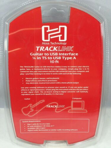 Hosa USQ-110 10 ft. Tracklink Guitar To USB Interface DATA Cable