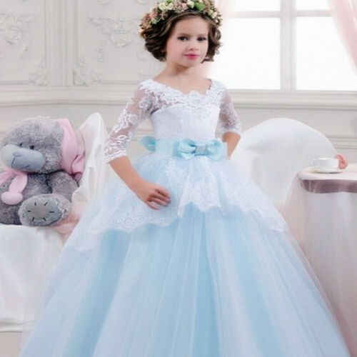 NEW Wedding Party Formal Flower Girls Dress baby Pageant dresses