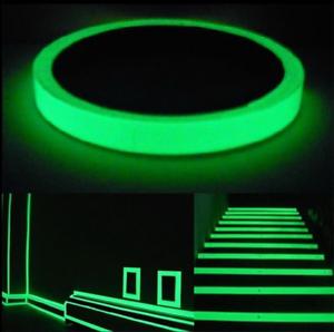 Glow-In-The-Dark-Luminous-Fluorescent-NUIT-auto-adhesif-de-securite-Autocollant-Bande