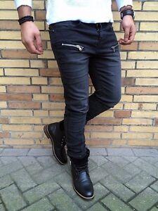 Paris Skinny Bikerjeans Washed Grey Used Dark Look Sixth Stone June Strech Hose Uq44n57