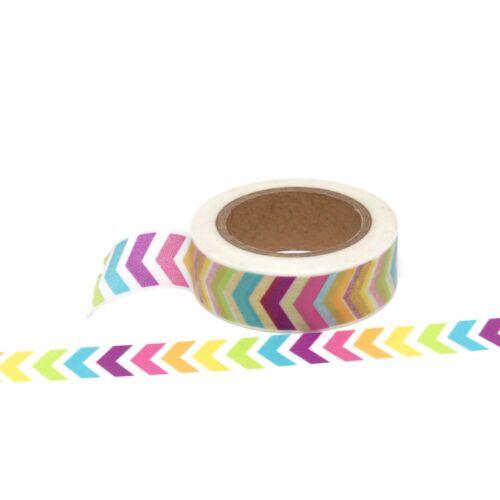 Washi Tape Rainbow Arrow Multi-Coloured 15mm x 10m