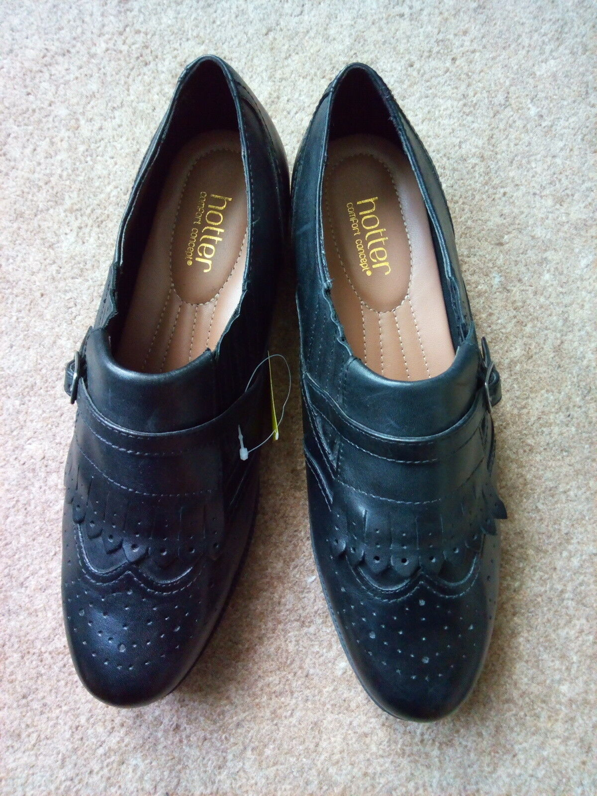 HOTTER SEATON LEATHER LEATHER SEATON WOMEN'S BROGUES SLIP ON SHOES UK/US/EU: 9/11/43 (NEW) 8afbe6