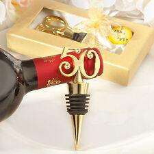 1 Golden 50 50th Anniversary Birthday Wedding Wine Bottle Stopper Favor Gift